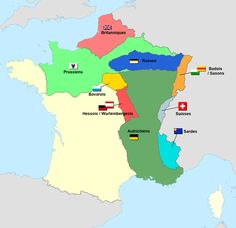 Carte d'occupation france 1815 - Traité de Paris (1815) — Wikipédia Historical Maps, Historical Pictures, World History, Family History, Alternate History, Fantasy Map, Mystery Of History, Historian, Geography