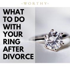 Engagement Ring Etiquette, Wedding Engagement, Wedding Rings, Engagement Rings, Divorce Online, Ending Quotes, Old Rings, Divorce Quotes, After Divorce