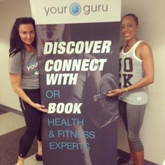 #LaterGram  Awesome night representing the  @YourGuru Experience!  Pictured here w/ Co-Founder @misshjc who happens to also be a BOSS pilates practitioner!  #whosyourguru #discoveryourguru #experienceyourguru #FitnessActivist #TheFitCycle #CompleteBody #YourGuru