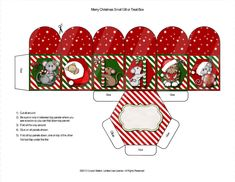 Digital Christmas Box Cat and Mouse Theme by CooperStation on Etsy