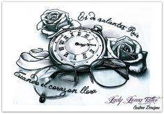 rosas tattoo dibujos - Buscar con Google