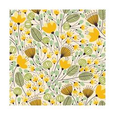 Removable Wallpaper Self Adhesive Wallpaper Yellow Flowers Peel & Stick Wallpaper Mural Abnehmbare Tapete Selbstklebende Tapete Yellow Flowers Art And Illustration, Pattern Illustration, Textures Patterns, Print Patterns, Fall Patterns, Plant Drawing, Self Adhesive Wallpaper, Flower Backgrounds, Watercolor Pattern