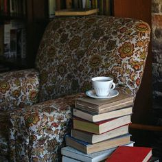 Hot tea, a comfy chair, and books galore are the best companions during this chilly weather.