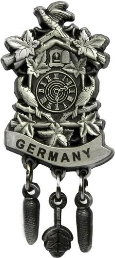 8432e5edf79d8 A great addition to add to your German hat! This quality embossed metal hat  pin