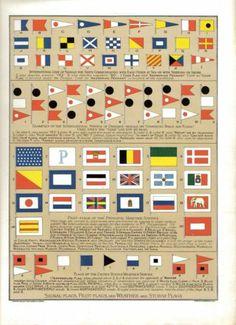 International Code of Signals Maritime Nations SHIP Communicating Pilot Flags | eBay