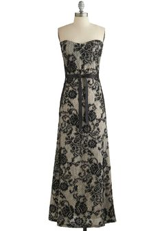 Operatic Occasion Dress. For your next evening theater engagement, don this remarkable lace gown to demonstrate your classy taste! #wedding #bridesmaid #modcloth