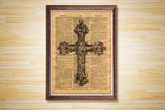 Crest print Gothic poster Old dictionary by CrowDictionaryPrints