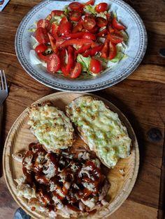 Lite lunch - garlic chicken & salad
