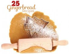Collection of 25 Gingerbread Recipes from Allreddesign.net
