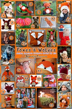 Foxes & Wolves 27 free and paid crochet patterns, roundup by @beckastreasures
