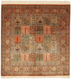 Hand-Knotted Oriental Rug: Qom 100x100 cm