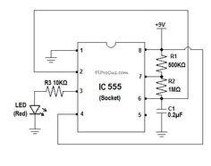 7 segment display counter using ic 555 timer ic