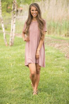 7a51d349b7 Echoes In Time Dress Dark Mauve - The Pink Lily Pink Lily Boutique, Online  Clothing