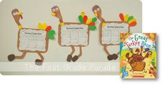 The Great Turkey Race writing craftivity - students retell and write the beginning/middle/end of The Great Turkey Race