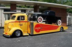 A sweet old COE car hauler.