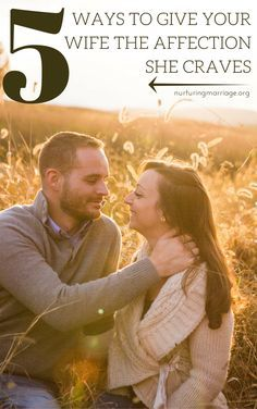 5 Ways to Give Your Wife the Affection She Craves (ah, I need to gently share this with my hubby!) - Some of these ideas may seem cheesy and mushy-gushy, but men, cheesy and mushy-gushy is exactly what your wife craves. Even if she says she doesn't. She craves romance. She needs to know you are madly in love with her. So, how do you let her know? How do you meet that deep craving she has to feel your love for her? To be confident in your love for her? To feel absolutely safe, adored, and…