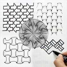 Doodle Art Drawing, Zentangle Drawings, Mandala Drawing, Spiral Drawing, Easy Doodle Art, Zentangles, Illusion Drawings, Illusion Art, Art Drawings Sketches Simple