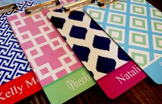 Personalized clipboards make great teacher gifts!