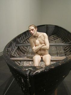 Ron Mueck. This exhibit as part of a London exhibition caused everyone to smile.