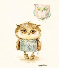 Трогательные совы от иллюстратора Инги Пальцер | Feed Mix