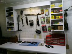 Gun vault room pic 5 of 9 - using Gun Cradles from Gun Storage Solutions