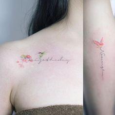 One of the popular tattoo trends of 2017 that will most likely continue into 2018 is watercolor tattoos . Pretty Tattoos, Love Tattoos, Beautiful Tattoos, Body Art Tattoos, New Tattoos, Tattoos For Women, Tatoos, Floral Tattoos, Little Tattoos
