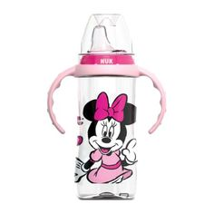 NukDisney Large Learner Sippy Cup with Handles - Minnie Mouse 10 oz Pink Disney Baby Clothes, Baby Disney, Disney Mickey Mouse, Minnie Mouse, Nuk Sippy Cup, Ropa American Girl, Baby Alive Food, Baby Girl Items, Daddy Dom Little Girl