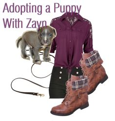 """Adopting a Puppy With Zayn!"" by missherjh ❤ liked on Polyvore"
