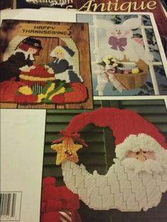 Holiday hang_ups Stitching Patterns, Cross Stitching, Cross Stitch Patterns, Plastic Canvas Christmas, Canvas Pictures, Plastic Canvas Patterns, Autumn, Fall, Wall Hangings