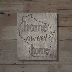 Home Sweet Home Wisconsin Printable Sign  instant download #wisconsin #wihome