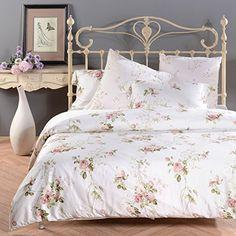 Amazon.com: Sisbay Romantic Rose Print Duvet Cover,Vintage Tencel Floral…