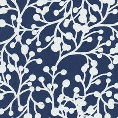 Blossom Vine - Royal Indoor/Outdoor Fabric.    Blue & white contemporary floral indoor/outdoor fabric by .   Ideal as upholstery, table coverings, or pillow fabric. Suitable for many home decorating applications. 100% Spun Poly Medium weight Dry cleaning recommended Samples not available for this item.             $9.75peryard