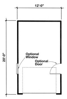 Garage Plan 6001 - Traditional Style 1 Car Garage Plan | Level One Garage Plans, Car Garage, Single Garage Door, Cabinet Plans, Kitchen Cabinets In Bathroom, Wall Finishes, Detached Garage, Interior And Exterior, House Plans