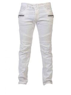 7e196330 BALMAIN Balmain Jeans White. #balmain #cloth #jeans Moto Pants, Biker Jeans