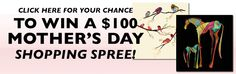 Enter to win the $100 Mother's Day shopping spree!   Now through 11:59 on Sunday, at http://duckco.com/mothers-day