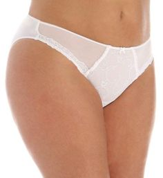Lise Charmel BCA0233 Eprise Personal Beauty Fancy Brief Panty (White XL), Women's