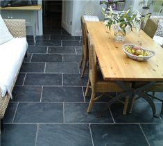 Image Result For Rice White Marble With Slate Floor Flooring Kitchen