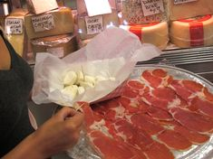 Prosciutto And Homemade Mozzarella At Alleva Dairy, Little Italy, New York City