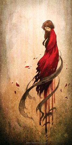 'Girl in Red' Photographic Print by Vivienne To Fantasy Magic, Fantasy Art, Bd Comics, Art Textile, Art Et Illustration, Deviantart, Shades Of Red, Red Riding Hood, Amazing Art