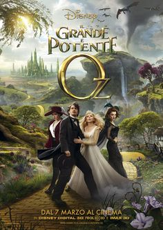 Non ha niente di cui temere, a patto che lei creda davvero, perché quando si crede davvero ogni cosa è possibile - Il grande e potente Oz