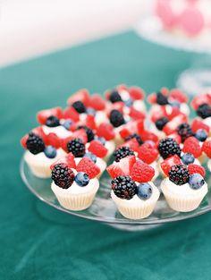 tiny wedding fruit tarts