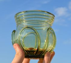 This is a replica of a Viking drinking glass from Birka.