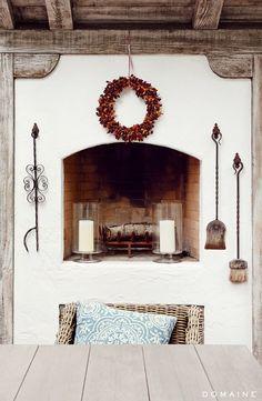 Outdoor Italian Fireplace