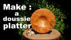 Woodturning a Doussie platter / Ξυλοτορνος - κατασκευη ενος πιατου απο Ν...