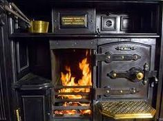 Nice old wood fired stove, need say no more.