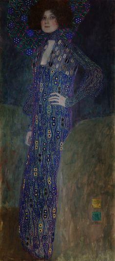 Gustav Klimt. Portrait of Emilie Flöge. 1902. Oil on canvas. Historical Museum of the City of Vienna, Vienna, Austria