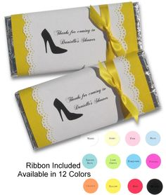 Scallop Burst Personalized Candy Bar Wrapper from Sweet Paper Shop ...