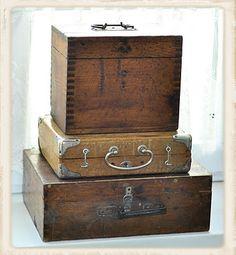 wooden boxes storage