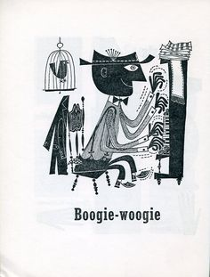Illustration from the First Book of Jazz. Illustrations by Cliff Roberts