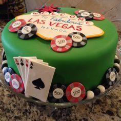 Casino cake cakes vegas cake, las vegas cake ve poker cake Cupcakes, Las Vegas Cake, Vegas Party, Casino Party, Cake Surprise, Poker Cake, Vegas Birthday, 32 Birthday, Birthday Ideas